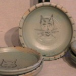Stoneware cat dish