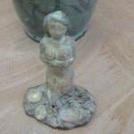 Goddess Figurine Pinnell Celadon Salt Soda Fired