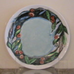 China Painted Porc Plate