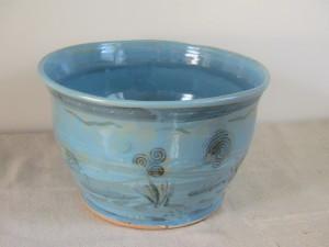 Marine Motif Stoneware Bowl