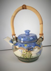 Teapot with Landscape